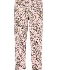 Big Girl Leopard Cozy Fleece Leggings