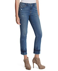 Arrow Frayed-Hem Ankle Jeans
