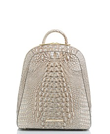 Rosemary Melbourne Embossed Leather Backpack