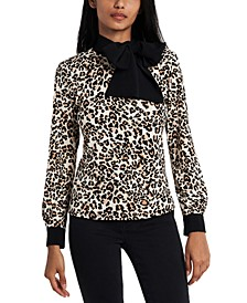 Julliette Safari Tie-Neck Top, Created for Macy's