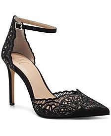 INC Women's Kinlee Two-Piece Pointed-Toe Dress Pumps, Created for Macy's