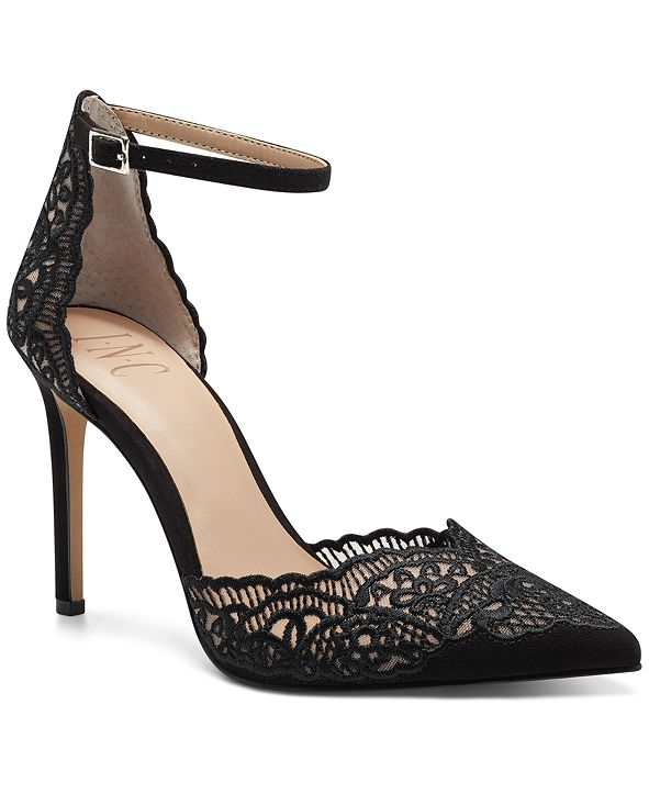 INC International Concepts INC Women's Kinlee Two-Piece Pointed-Toe Dress Pumps, Created for Macy's