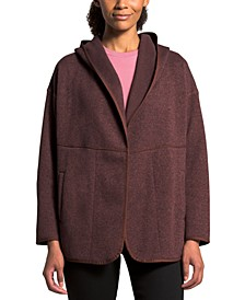 Women's Crescent Wrap Hooded Sweater