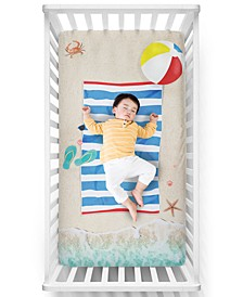 Beach Baby Crib Sheet