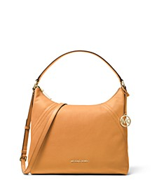 Aria Pebble Leather Shoulder Bag