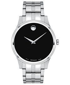 Men's Swiss Stainless Steel Bracelet Watch 40mm