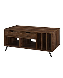 "44"" 2 Drawer Storage Coffee Table"
