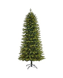 """Belgium Fir """"Natural Look"""" Artificial Christmas Tree with 550 Clear LED Lights"""