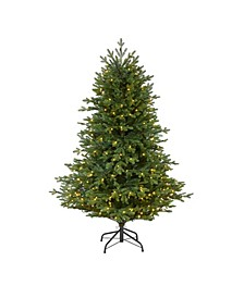 Wyoming Spruce Artificial Christmas Tree with 300 Clear LED Lights and 773 Bendable Branches