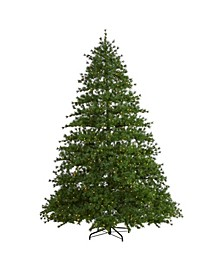 Colorado Mountain Pine Artificial Christmas Tree with 650 Clear Lights, 3197 Bendable Branches and Pine Cones