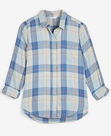 Cotton Plaid Utility Shirt