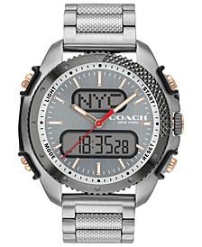 Men's C001 Analog-Digital Stainless Steel Bracelet Watch 46mm