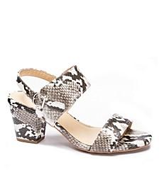 Women's Spot On Block Heel Sandals