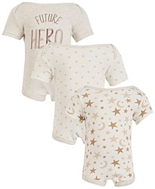 Chick Pea Baby Boy 3-Pack Short Sleeve Bodysuits - Future Hero