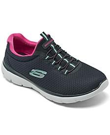 Women's Summits Wide Width Walking Sneakers from Finish Line