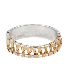 Wrapped Hinged Bangle Bracelet