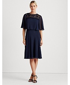 Georgette Fit-and-Flare Dress