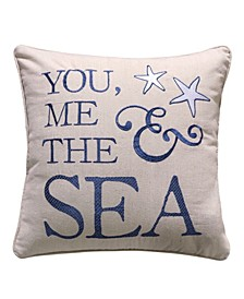 "Bay You Me The Sea Pillow, 18"" x 18"""