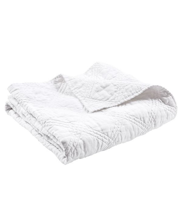 Levtex Home Washed Linen Quilted Throw