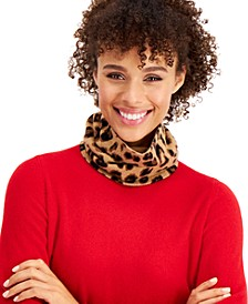 Cashmere Cheetah Gaiter Facemask, Created for Macy's