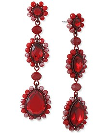 INC Crystal & Bead Color-Coated Linear Drop Earrings, Created for Macy's