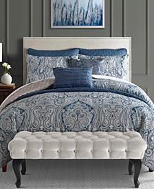 Willoughby 8-Pc. Reversible Queen Comforter and Coverlet Set