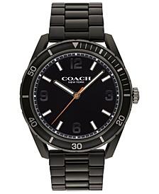 Men's Preston Black-Tone Bracelet Watch 44mm