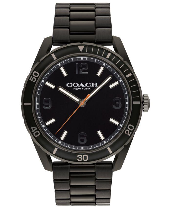COACH Men's Preston Black-Tone Bracelet Watch 44mm & Reviews - Macy's