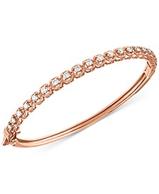 Diamond Bangle Bracelet (1 ct. t.w.) in 14k Rose Gold