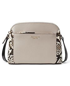 Louise Python Embossed Medium Dome Crossbody