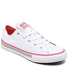 Little Girls Chuck Taylor All Star Multi-Stripe Casual Sneakers from Finish Line