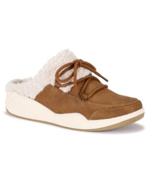 Landon Faux Fur Lace Up Slippers Women's Shoes