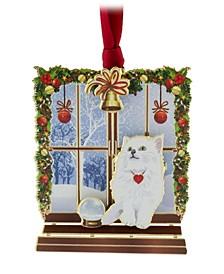 Cat in Window Ornament