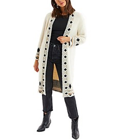 Women's Diamond Open Long Cardigan