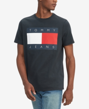 Tommy Hilfiger Men's Big & Tall Tommy Jeans Flag T-Shirt