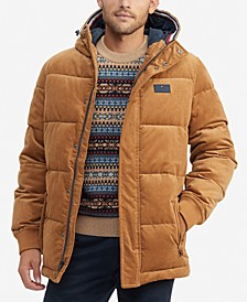 Men's Vance Hooded Corduroy Puffer Jacket