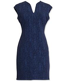 Petite Cap-Sleeve Sparkle Dress