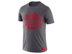 Nike Ohio State Buckeyes Men's Dri-Fit Cotton Crest Basketball T-Shirt