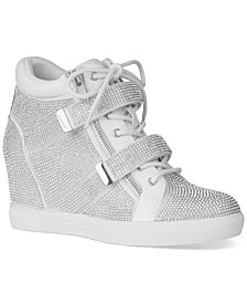 INC Women's Debby Wedge Sneakers, Created for Macy's