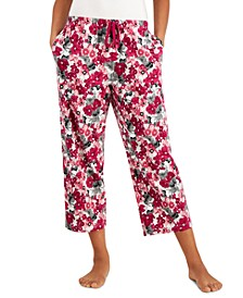 Printed Knit Cotton Cropped Pajama Pants, Created for Macy's