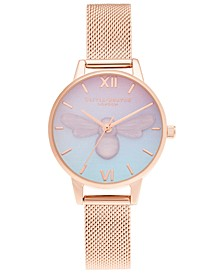 Women's Candy Shop Rose Gold-Tone Mesh Bracelet Watch 30mm