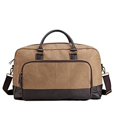 Men's Gunner Brown Vegan Leather Duffel Bag