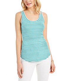 Supima® Cotton Knit-Stripe Tank, Created for Macy's