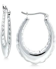 Fancy Oval Hoop Earrings in Sterling Silver, Created for Macy's