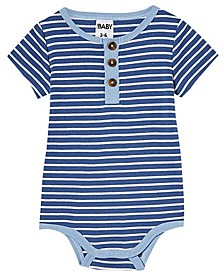 Baby Boys and Girls The Short Sleeve Placket Bubbysuit