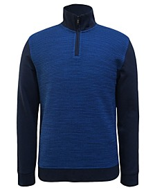 Men's Textured Colorblocked Quarter-Zip Sweater, Created for Macy's
