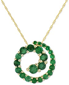 """Certified Ruby Swirl 18"""" Pendant Necklace (2-1/10 ct. t.w.) in 14k Gold (Also in Sapphire & Emerald)"""