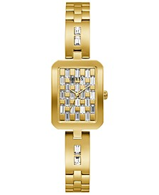 Women's Gold-Tone Stainless Steel & Crystal Bracelet Watch 22mm