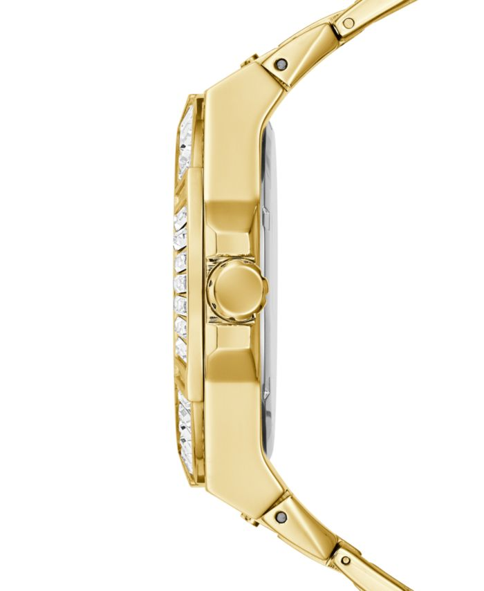 GUESS Men's Gold-Tone Stainless Steel Bracelet Watch 47mm & Reviews - Macy's