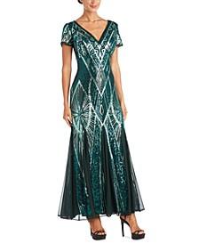 Sequin Scoop-Back Gown